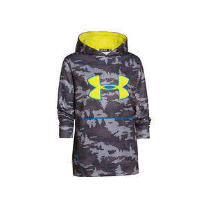 Under Armour Youth STORM Caliber Hoodie (Charcoal Camo)- Medium