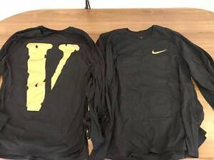 VLONE x Nike Long Sleeve LS Tee Virgil Abloh Off White T-Shirt Size M Complexcon
