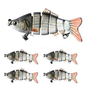 HOT 6-Jointed Minnow Fishing Lures Crank Bait Hooks Bass Tackle Sinking Popper