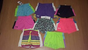 Under Armour Girls' Intensity Athletic Shorts Many Colors & Sizes MSRP $21.99