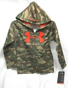 Under Armour AllSeason Gear Camo  Full Zip Up Hoodie 27654512-34 Boys