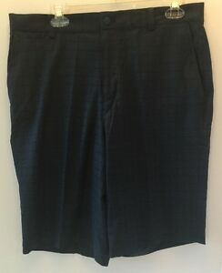Nike Plaid Men's Golf Shorts Size 33 639801-496 BlackBlue NWT $80