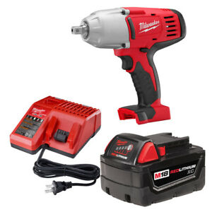 Milwaukee 2662 21 M18 1 2quot; High Torque Impact Wrench with Pin Detent Kit $220.71