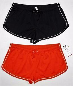 Women's UNDER ARMOUR Legacy Mesh Shorts Sz XL (Orange is NWTBlack is Pre-owned)