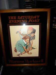 FRAMED NORMAN ROCKWELL ORIG.1972 THE SATURDAY EVENING POST LITHOGRAPH NO.9565