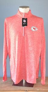 NEW NIKE  Kansas City CHIEF'S Womens Red Pullover Shirt Jacket 3XL Dri Fit NFL
