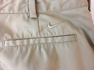 Men's Nike Golf Dri Fit Khaki Athleitc Golf Shorts Size 33