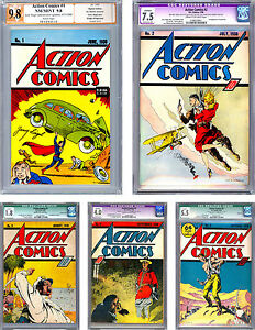 ACTION COMICS #12345 CGCPGX *COLLECTION OF A LIFETIME* #1 SIG JERRY SIEGEL 1938