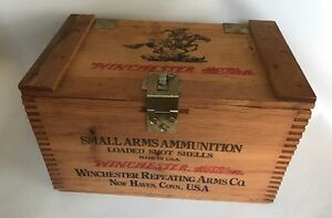 Winchester Western Small Arms Wooden Ammo Box Super X Staynless 12-3 500 USA