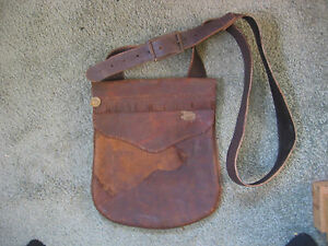HUNTING BAG BLACK POWDER MUZZLELOADING LEATHER POSSIBLES BAG Hand stitched USA