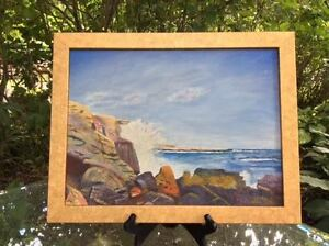 Seascape Painting By J. Howard Lightfoot – Signed amp; Dated 1962 – Star Island $318.75