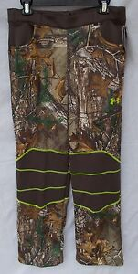 New Boy's Under Armour Scent Control Fleece Hunting Pants Realtree Xtra Size YXL