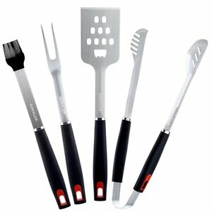 GDEALER BBQ Grill Tools Set 4 Pieces Barbecue Tool Set Grill Accessories with Sp