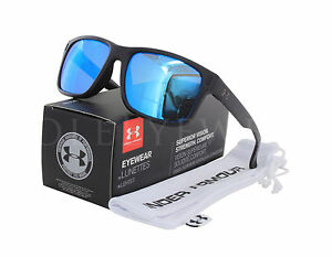 NEW Under Armour Assist Satin Black Grey Blue Multiflection Sunglasses