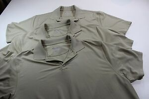 NWOT LOT OF 3 Under Armour Sand Colored POLO SHIRTS XL Extra Large