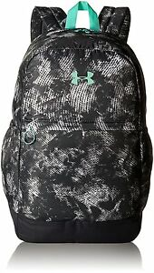 Under Armour Girls Favorite Backpack Stealth GrayGreen Breeze One Size