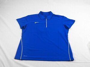 NEW Nike - Women's Blue Game Day Dri-Fit Polo Shirt (Women's Size XL) 4 Charity