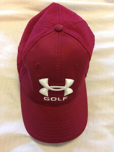 Under Armour Fitted Mens Size LXL hat cap Golf UA Large Extra Large  Red