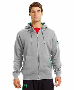 Mens Under Armour Charged Cotton Storm FZ Hoody AluminumAstro Grey  S