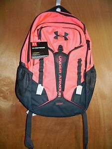UNDER ARMOUR BACKPACK CONTENDER PINK CHROMA STEALTH GRAY NWTS $80 FREE SHIP