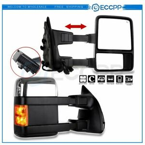 LeftRight Mirrors Power Heated Signals For 08 16 F250 550 Super Duty Chrome Tow $166.99