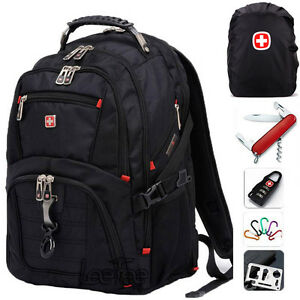 Men Women SwissGear Waterproof Backpack Bag Travel Bag 15