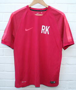 Mens NIKE Dry-Fit Squad Football T Shirt Flash Hyper Neon Pink Size: L RRP:£40