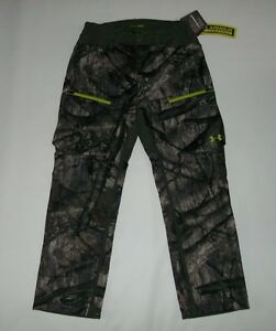 UNDER ARMOUR UA Storm Scent Control Soft Shell Camo Hunting PANTS Mens LARGE NEW