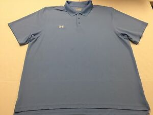 Lot of 2 Under Armour UA Men's Polo Shirt Black & Blue Ss HeatGear Loose 4XL