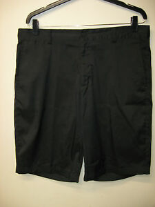 Men's NIKE Dri-Fit Tour Performance Black Flat Front Golf Shorts Size 33 EUC