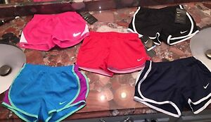NWT Nike Girls Dri-fit Athletic Shorts Running Track Sports Active Youth 6X or 6