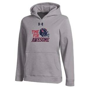 Youth Heather Gray Ole Miss Rebels Under Armour Hoodie