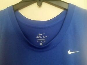 NWOT Men's Sz XL Sleeveless Shirts NIKE Blue Dry Fit & Under Armour Yellow