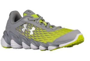 UNDER ARMOUR MICRO G SPINE DISRUPT SNEAKERS RUNNING SHOES BOYS 7y STEEL VELOCITY