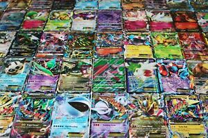 Pokemon Card Lot 100 OFFICIAL TCG Cards Ultra Rare Included GX EX Mega HOLOS $18.94