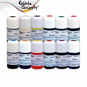 Edible Supply Cake Decorating Airbrush Food Color Combo