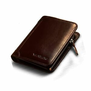 Men's Italian Genuine Cowhide Leather Extra Capacity Bifold Wallet