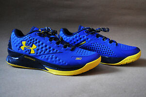 Under Armour Curry 1 low warriors One US10 yellow blue stephen curry goldenstate