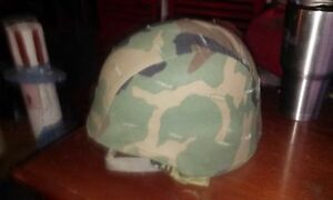 US ARMY KEVLAR PASGT BALLISTIC HELMET complete w camo cover and all straps