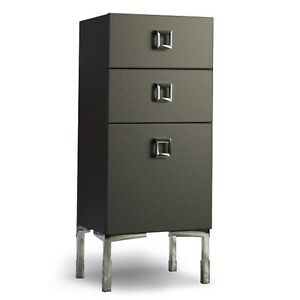 Salon Furniture Cabinet With 3 Drawers Available in Black White Wood Italian