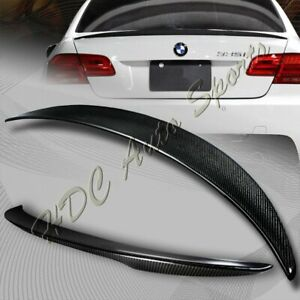 For 2007-2013 BMW E92 2-DR M3 Style Real Carbon Fiber Rear Trunk Spoiler Wing