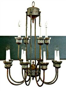NEW QUORUM 12-Light CHANDELIER 6095-12-33 Celtic Design Cobblestone Finish $1200