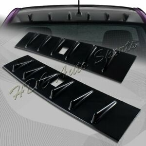 For 2008-2016 Mitsubishi Lancer EVO X Glossy Black Shark Rear Roof Spoiler Wing