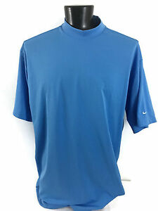 NIKE - MEN'S - BLUE - GOLF DRY FIT SHORT SLEEVE TURTLENECK SHIRT - 3XL