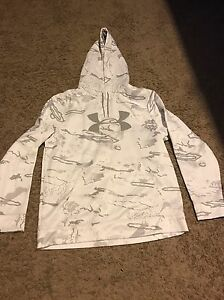Under Armour Men's Hoodie White Camo Size Large L GREAT CONDITION