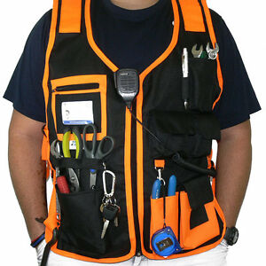 Electrician Carpenter Framer Plumber Craftman Construction Pouch Bag Tool Vest
