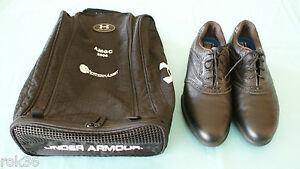 Nike Air Sport Performance Black Golf Shoes w Under Armour Shoe Bag 10.5 W