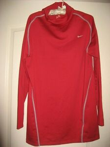Mens XXXL Nike Fit Dry Long Sleeve Shirt Red and Gray Nike Team 3XL