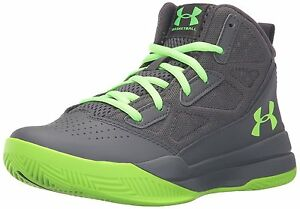 Under Armour Boys Grade School Jet Mid Basketball Shoes Big Kid Stealth Green