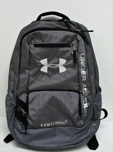 Under Armour UA Team Hustle Durable STORM1 Water-Resistant Backpack - Gray